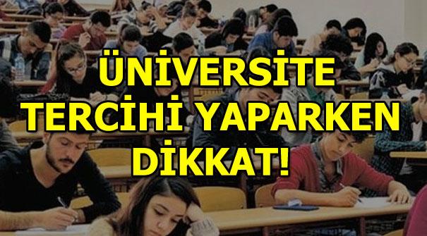 YKS üniversite tercihlerinde bunlara dikkat!