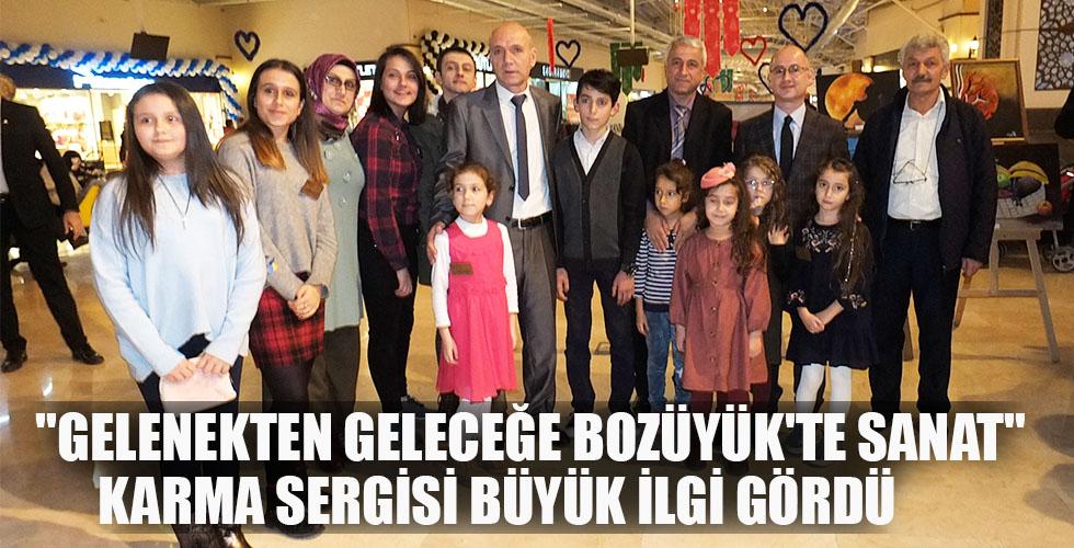 """""""GELENEKTEN GELECEĞE BOZÜYÜK'TE SANAT"""" KARMA SERGİSİ BÜYÜK İLGİ GÖRDÜ"""