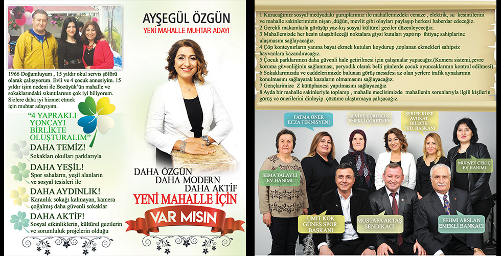 """AYŞEGÜL ÖZGÜN """"HİZMET YARIŞINDA BENDE VARIM"""""""
