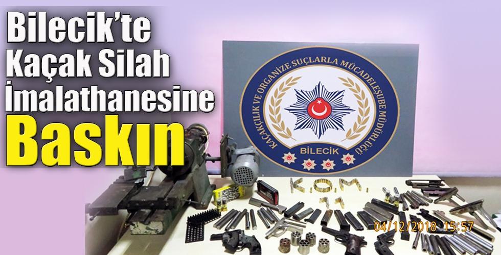 Bilecik te Kaçak Silah İmalathanesine Baskın