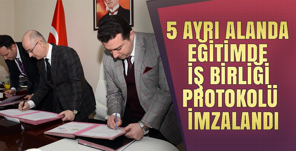 BOZÜYÜK'TE 5 AYRI ALANDA EĞİTİMDE İŞ BİRLİĞİ PROTOKOLÜ İMZALANDI