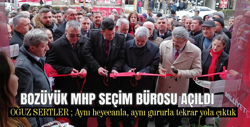 Bozüyük MHP Seçim bürosu açıldı