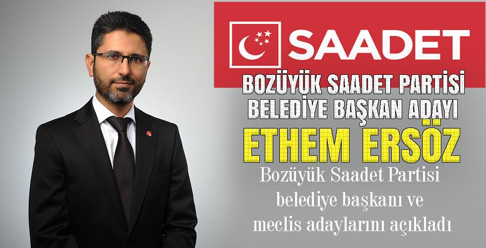 Bozüyük Saadet Partisi belediye başkanı ve meclis adaylarını açıkladı