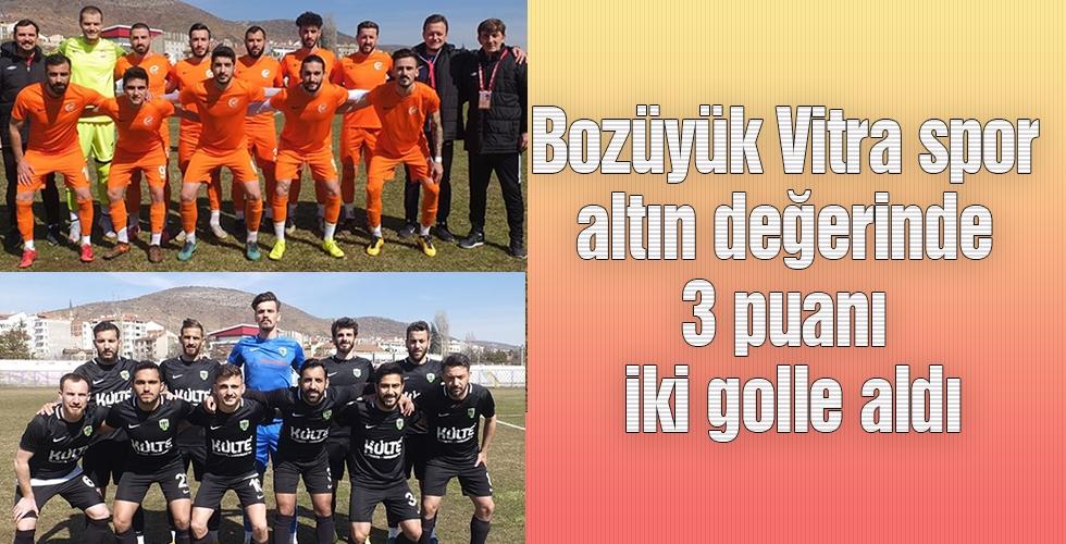 Bozüyük Vitra spor altın değerinde 3 puanı iki golle aldı.