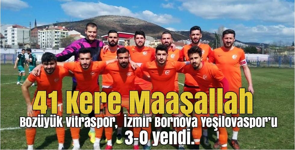 Bozüyük Vitraspor, İzmir Bornova Yeşilovaspor'u 3-0 yendi