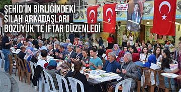 Şehid'in birliğindeki silah arkadaşları Bozüyük'te iftar düzenledi