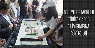 100. YIL ORTAOKULU TÜBİTAK 4006 BİLİM FUARINA BÜYÜK İLGİ