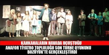 Anafor tiyatro topluluğu son turne oyununu Bozüyük'te gerçekleştirdi
