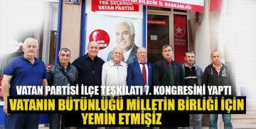 Bozüyük'te Vatan Partisi ilçe teşkilatı 7. kongresini yaptı