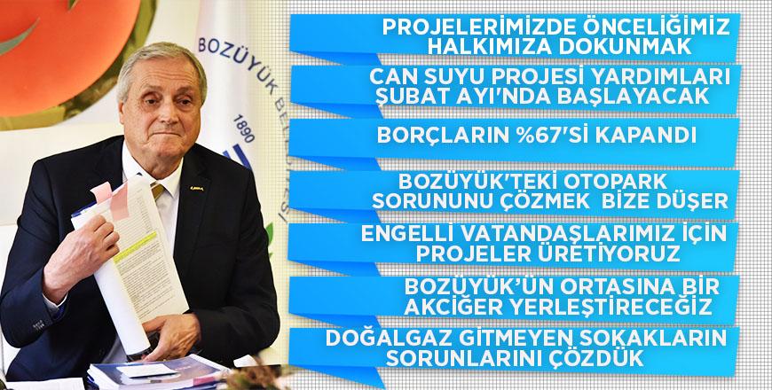Başkan Bakkalcıoğlu düzenlediği basın toplantısında projelerini anlattı
