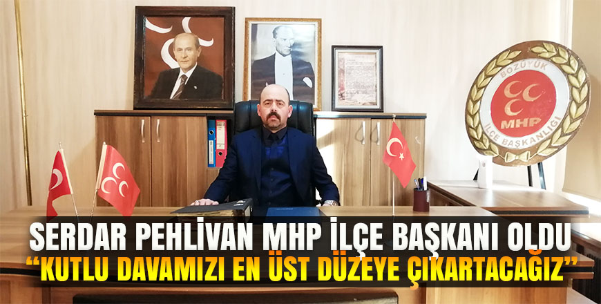 Bozüyük MHP ilçe teşkilatında bayrak değişimi. Serdar Pehlivan MHP ilçe başkanı oldu