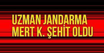 Uzman Jandarma Mert K. Şehit Oldu
