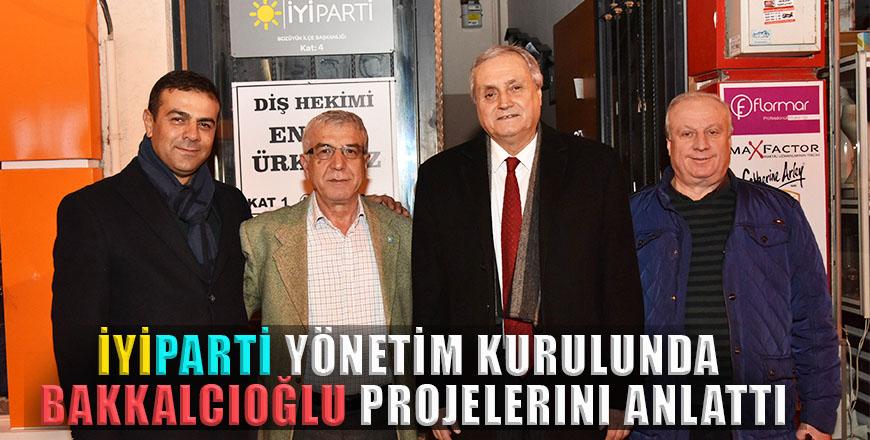 İYİParti yönetim kurulunda Bakkalcıoğlu projelerini anlattı