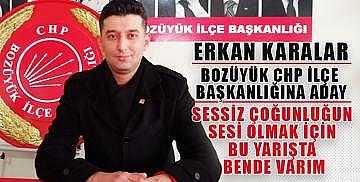 Erkan Karalar Bozüyük CHP ilçe başkanlığına aday oldu