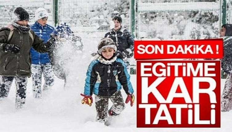 Etkili olan kar yağışı nedeniyle Bozüyük'te okullar eğitime bir gün süreyle ara verdi