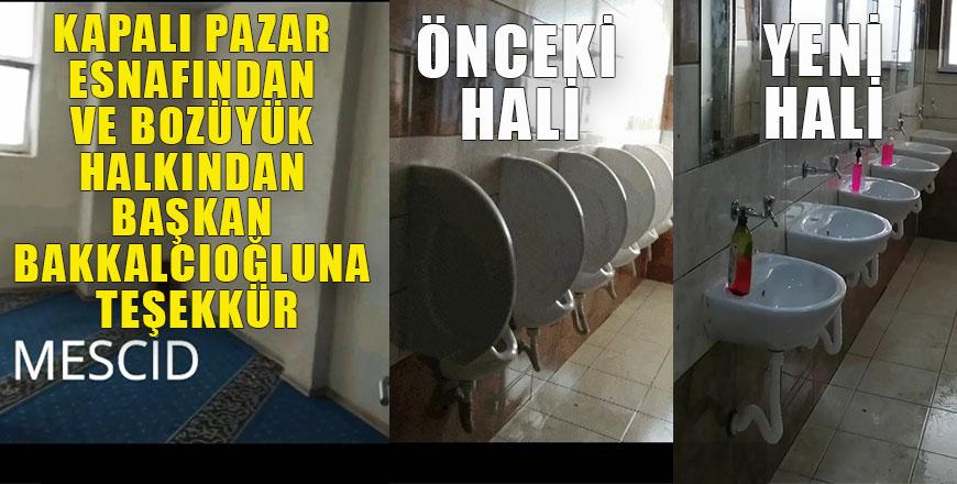Kapalı pazar esnafından ve Bozüyük halkından Başkan Bakkalcıoğluna teşekkür