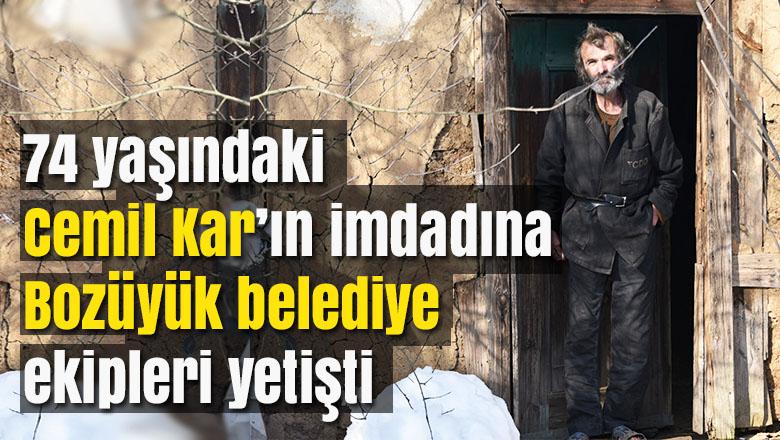 Mahsur kalan 74 yaşındaki Cemil Kar'ın imdadına Bozüyük belediye ekipleri yetişti