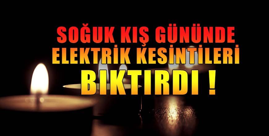 Bozüyük'teki elektrik kesintileri bıktırdı !