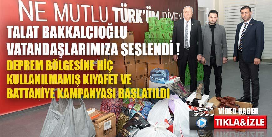 Talat Bakkalcıoğlu vatandaşlarımıza seslendi ! Deprem bölgesindeki insanlarımızın ihtiyacı ısınma !