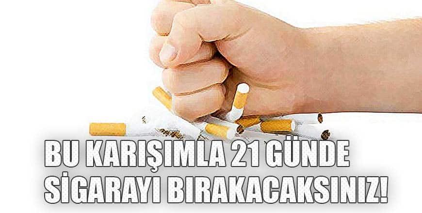 Bu karışımla 21 günde sigarayı bırakacaksınız!