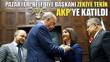 Pazaryeri Belediye Başkanı Zekiye Tekin AKP'ye katıldı