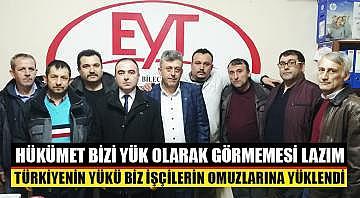 Türkiyenin yükü biz işçilerin omuzlarına yüklendi