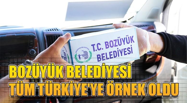 Bozüyük belediyesi tüm Türkiye'ye örnek oldu