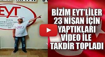 Bozüyük'lü EYT'liler içlerindeki çocuk, vatan ve bayrak sevgisini yaptıkları video ile dile getirdi