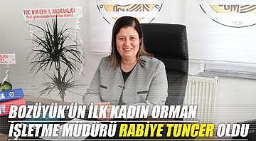Bozüyük'ün ilk kadın orman işletme müdürü Rabiye Tuncer oldu