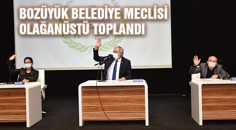 Bozüyük belediye meclisi olağanüstü toplandı
