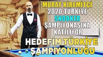 Murat Kiremitçi 2020 Türkiye snooker şampiyonasına katılıyor