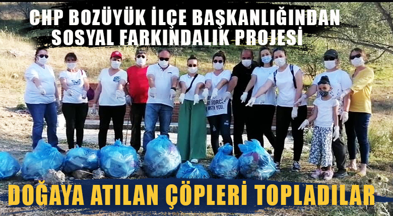 CHP Bozüyük ilçe başkanlığından Sosyal farkındalık projesi