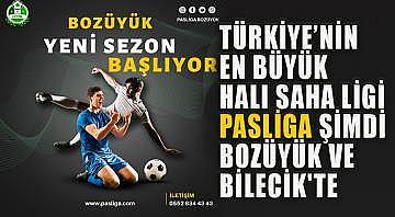 Türkiye'nin en büyük halı saha ligi Pasliga şimdi Bozüyük ve Bilecik'te