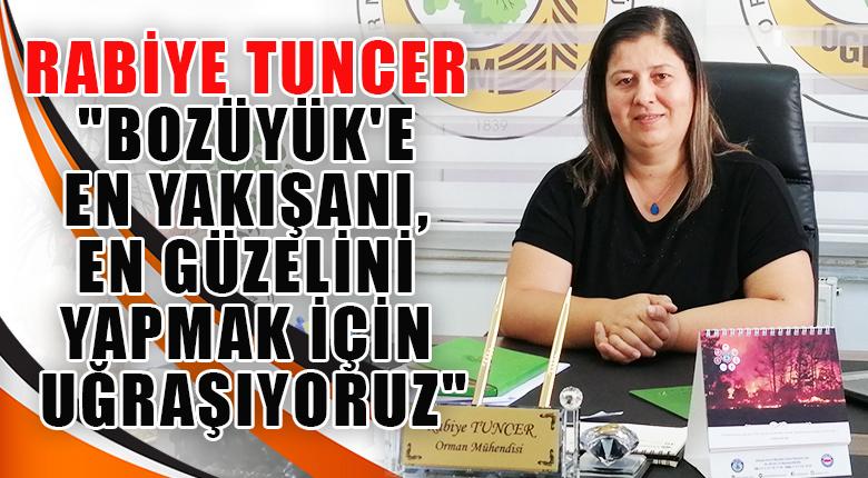 """Rabiye Tuncer """"Bozüyük'e en yakışanı, en güzelini yapmak için uğraşıyoruz"""""""