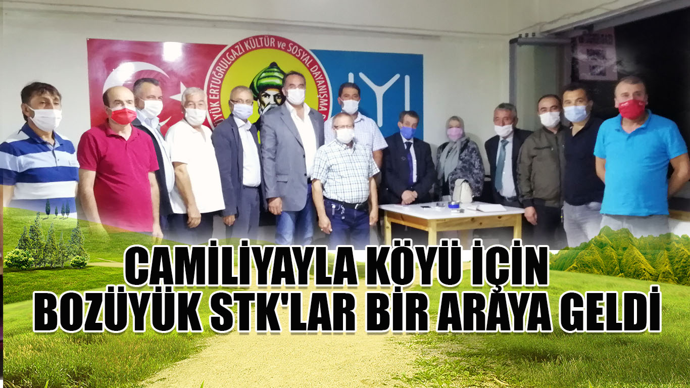Camiliyayla köyü için Bozüyük STK'lar bir araya geldi