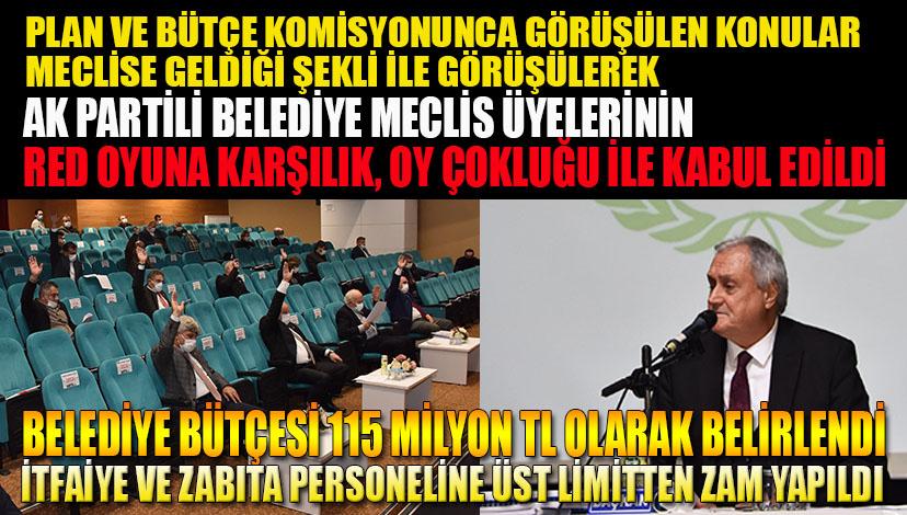 Belediye bütçesi 115 milyon TL olarak belirlendi