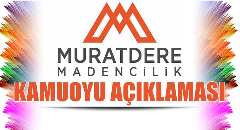Muratdere Madencilik Kamuoyu Açıklaması