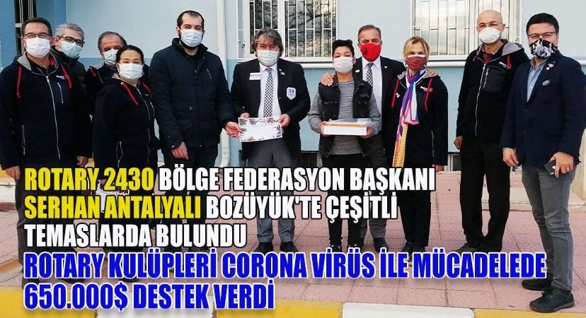 Rotary 2430 bölge federasyon başkanı Serhan Antalyalı Bozüyük'te çeşitli temaslarda bulundu