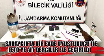 Saraycık'ta bir evde uyuşturucu ile FETÖ'ye ait dergiler ele geçirildi