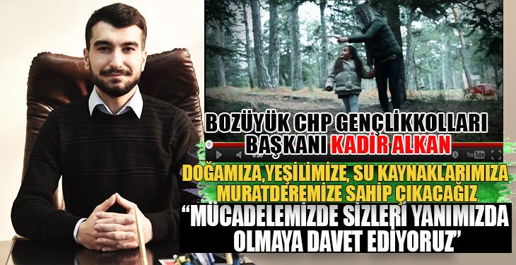 Bozüyük CHP Gençlik kollarından Muratdere Ormanları hakkında basın açıklaması