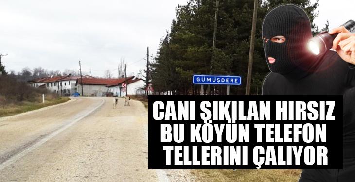 Canı sıkılan hırsız bu köyün telefon tellerini çalıyor