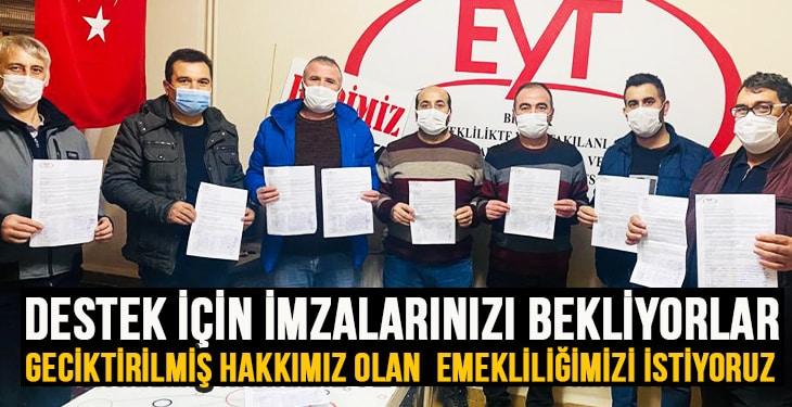 EYT'liler destek için imzalarınızı bekliyor