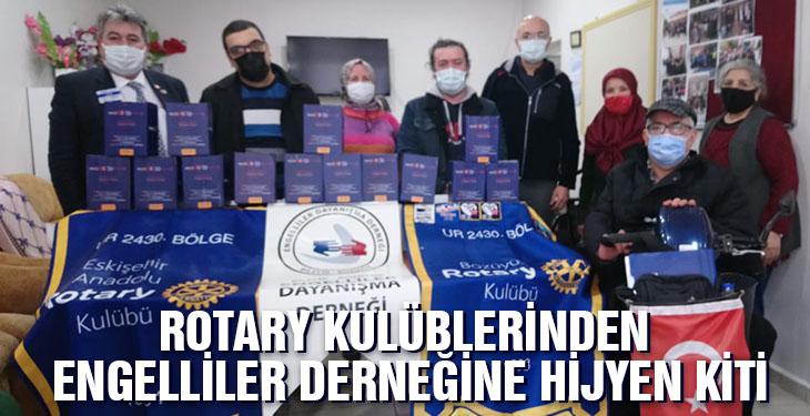 Rotary kulübünden engelliler derneğine hijyen kiti