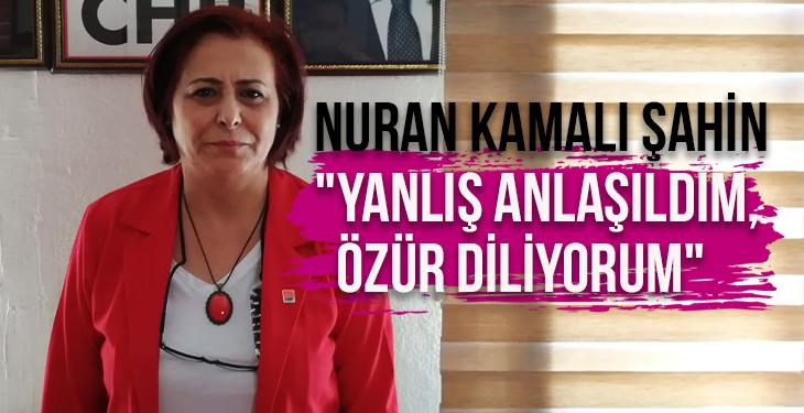 """Nuran Kamalı Şahin """"Yanlış anlaşıldım, özür diliyorum"""""""