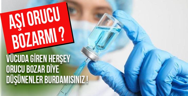 Diyanet: Aşı yaptırmak orucu bozmaz