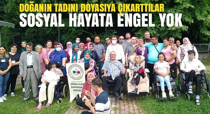 Bozüyük Engelliler Dayanışma Derneği'nin pikniğinde doğanın tadını çıkardılar
