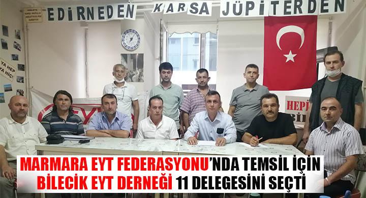 Marmara EYT Federasyonunda temsil için Bilecik EYT derneği 11 delegesini seçti