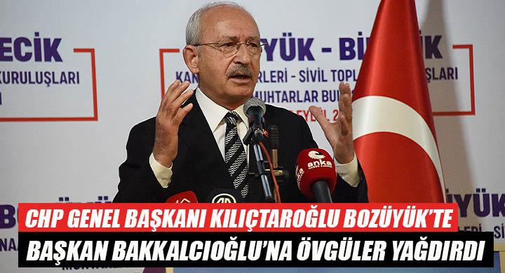 CHP Genel Başkanı Kılıçtaroğlu Bozüyük'te